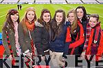 Chloe O'Shea, Anna Linnell, Niamh Hanley, Aoidean O'Sullivan, Niamh O'Sullivan, Collette Doyle and Roisin O'Sullivan (Kenmare) pictured at Croke Park on Sunday for the Kenmare vs Ballinasloe final.
