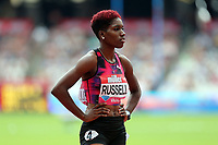 Janieve Russell of Jamaica competes in the womenís 400 metres hurdles during the Muller Anniversary Games at The London Stadium on 9th July 2017