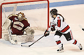 Corinne Boyles (BC - 29), Brittany Esposito (NU - 7) - The Northeastern University Huskies defeated Boston College Eagles 4-3 to repeat as Beanpot champions on Tuesday, February 12, 2013, at Matthews Arena in Boston, Massachusetts.