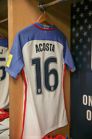 Harrison, N.J. - Friday September 01, 2017: Kellyn Acosta during a 2017 FIFA World Cup Qualifying (WCQ) round match between the men's national teams of the United States (USA) and Costa Rica (CRC) at Red Bull Arena.