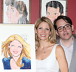 Kelli O'Hara & Matthew Broderick.attending the unveiling of the Sardi's Kelli O'Hara Caricature in New York City on June 5, 2012.
