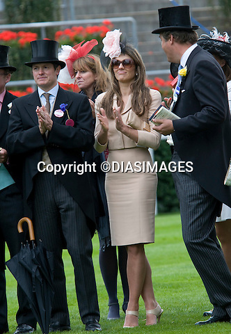 """LIZ HURLEY.watches her horse race on the big screen on Ladies Day, Royal Ascot, Ascot_16/11/2011.Mandatory Credit Photo: ©DIAS-DIASIMAGES..**ALL FEES PAYABLE TO: """"NEWSPIX INTERNATIONAL""""**..IMMEDIATE CONFIRMATION OF USAGE REQUIRED:.DiasImages, 31a Chinnery Hill, Bishop's Stortford, ENGLAND CM23 3PS.Tel:+441279 324672  ; Fax: +441279656877.Mobile:  07775681153.e-mail: info@newspixinternational.co.uk"""