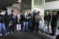 Roma, 27 Marzo 2009.Via Prenestina.<br /> Metropoliz.<br />  Senza casa occupano i capannoni abbandonati della ex fabbrica di salumi Fiorucci..Rome, 27 March 2009.Via Prenestina. Homeless occupy the abandoned warehouses of the former sausage factory Fiorucci