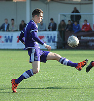 20151031 - KORTRIJK , BELGIUM : Anderlecht 's Clement Petit pictured during the Under 19 ELITE soccer match between KV Kortrijk and RSC Anderlecht U19 , on the thirteenth matchday in the -19 Elite competition. Saturday 31 October 2015. PHOTO DAVID CATRY