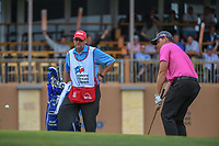 Adam Schenk (USA) chips on to 18 during Round 3 of the Valero Texas Open, AT&amp;T Oaks Course, TPC San Antonio, San Antonio, Texas, USA. 4/21/2018.<br /> Picture: Golffile   Ken Murray<br /> <br /> <br /> All photo usage must carry mandatory copyright credit (&copy; Golffile   Ken Murray)