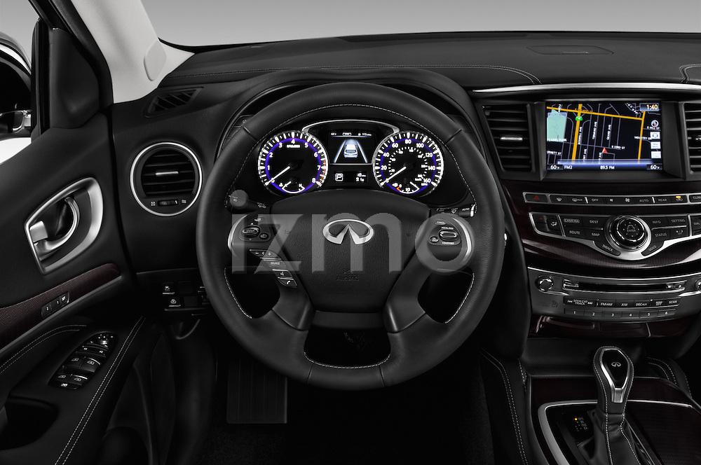 Car pictures of steering wheel view of a 2017 Infiniti QX60 Hybrid 5 Door SUV Steering Wheel