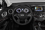 Car pictures of steering wheel view of a 2017 Infiniti QX60 Hybrid 5 Door SUV Steering Wheel