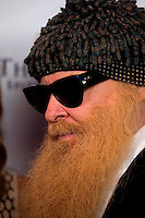 Aug. 29, 2013; Avon, IN, USA: ZZ Top guitarist/vocalist Billy Gibbons on the red carpet prior to the premiere of Snake & Mongoo$e at the Regal Shiloh Crossing Stadium 18. Mandatory Credit: Mark J. Rebilas-