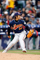 Kyuji Fujikawa of Japan during World Baseball Championship at Angel Stadium in Anaheim,California on March 12, 2006. Photo by Larry Goren/Four Seam Images