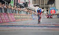 Thibaut Pinot (FRA/FDJ) finishing his TT<br /> <br /> stage 21: Monza - Milano (29km)<br /> 100th Giro d'Italia 2017