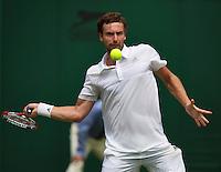 England, London, 23.06.2014. Tennis, Wimbledon, Ernest Gulbis (LAT)<br /> Photo:Tennisimages/Henk Koster