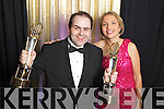 Edmond and Sheila Harty of Dairymaster celebrating winning the International and Overall awards at the Ernst & Young Entrepreneur awards in Citywest Hotel, Dublin on Thursday Night.
