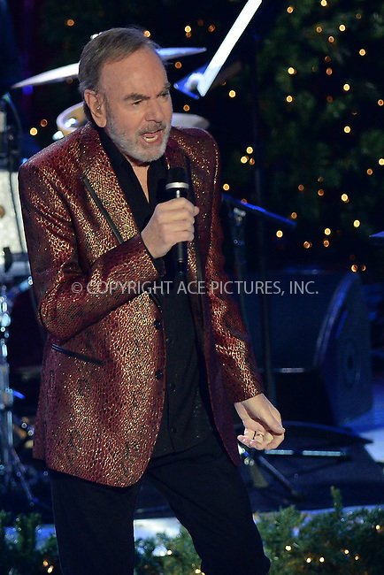 www.acepixs.com<br /> November 30, 2016  New York City<br /> <br /> Neil Diamond performing at The Rockefeller Center Christmas Tree lighting ceremony on November 30, 2016 in New York City.<br /> <br /> <br /> Credit: Kristin Callahan/ACE Pictures<br /> <br /> <br /> Tel: 646 769 0430<br /> Email: info@acepixs.com