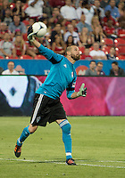 18 July 2012: Colorado Rapids goalkeeper Matt Pickens #18 in action during an MLS game between the Colorado Rapids and Toronto FC at BMO Field in Toronto, Ontario..Toronto FC won 2-1..