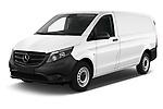 2019 Mercedes Benz Vito Select 4 Door Car Van Angular Front automotive stock photos of front three quarter view
