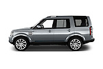 Car Driver side profile view of a 2016 Land Rover Discovery HSE 5 Door Suv Side View