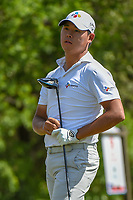 Si Woo Kim (KOR) watches his tee shot on 9 during Round 1 of the Valero Texas Open, AT&amp;T Oaks Course, TPC San Antonio, San Antonio, Texas, USA. 4/19/2018.<br /> Picture: Golffile | Ken Murray<br /> <br /> <br /> All photo usage must carry mandatory copyright credit (&copy; Golffile | Ken Murray)