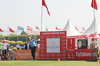 David Howell (ENG) on the 1st tee during Round 4 of the 2013 Avantha Masters, Jaypee Greens Golf Club, Greater Noida, Delhi, 17/3/13..(Photo Jenny Matthews/www.golffile.ie)
