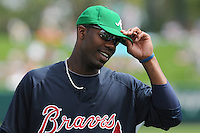 17 March 2009: Outfielder Jason Heyward of the Atlanta Braves prior to a game against the New York Meta at the Braves' Spring Training camp at Disney's Wide World of Sports in Lake Buena Vista, Fla. Photo by:  Tom Priddy/Four Seam Images