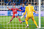 11.12.2018, VELTINS Arena, Gelsenkirchen, Deutschland, GER, UEFA Champions League, Gruppenphase, Gruppe D, FC Schalke 04 vs. FC Lokomotiv Moskva / Moskau<br /> <br /> DFL REGULATIONS PROHIBIT ANY USE OF PHOTOGRAPHS AS IMAGE SEQUENCES AND/OR QUASI-VIDEO.<br /> <br /> im Bild Zweikampf zwischen Maciej Rybus (#31 Moskau) und Naldo (#29 Schalke) / Torschuss<br /> <br /> Foto © nordphoto / Kurth