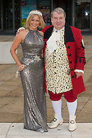 Suzanne Shaw, Russell Grant at the Photocall to launch Cinderella Pantomime, Aylesbury Waterside Theatre, Buckinghamshire. 15/09/2014 Picture by: Dave Norton / Featureflash