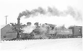 K-28 #478 with wedge plow &amp; combine.<br /> D&amp;RGW  Antonito, CO  Taken by Richardson, Robert W. - 12/31/1950
