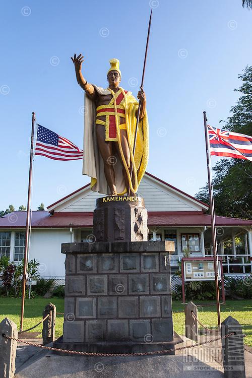 King Kamehameha I statue in Kapa'au, Big Island.