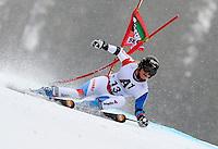 ATENCAO EDITOR IMAGEM EMBARGADA PARA VEICULOS INTERNACIONAIS - SEMMERING, AUSTRIA, 28 DEZEMBRO 2012 - AUDI FIS ALPINE WORLD CUP - A atleta suica Lara Gut compete na prova de Slalom Gigante do esqui Alpino durante a Audi FIS World Cup em Semmering na Austria nesta sexta-feira, 28. (FOTO: PIXATHLON / BRAZIL PHOTO PRESS).