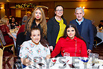 Enjoying the North Kerry Wheelchair Associations Christmas party in the Meadowlands Hotel on Sunday.  Front: Leah Hickey (Abbeydorney) and Saoirse Murphy.<br /> Back l to r:  Katlyn Murphy, Lisa and Andrew Hickey from Lixnaw