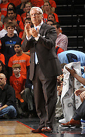 North Carolina Tar Heels head coach Roy Williams during the game against Virginia in Charlottesville, Va. North Carolina defeated Virginia 54-51.