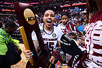 DALLAS, TX - APRIL 2: Tiffany Davis (15) of the University of South Carolina celebrates with the trophy after the championship game during the 2017 Women's Final Four at American Airlines Center on April 2, 2017 in Dallas, Texas. (Photo by Justin Tafoya/NCAA Photos via Getty Images)