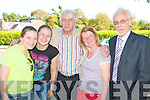 FAIR CELLI?: Jim Bartley of Fair City fame meeting his fans at Brandon Hotel CellI? on Sunday l-r: Jules O'Sullivan, Kilcumman, Emma Driscoll, Balloonagh Jim Bartley, Sheila Driscoll, Balloonagh and Sean Thompson (Starlight Promotions).