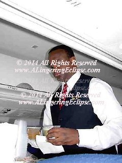 Airline Steward In Flight Beverage Service , African American