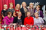 The HSC Admin enjoying their Christmas party in the Denny Lane Restaurant in Tralee on Friday night last.<br /> Front l-r Noreen McElligott, Mary Scannel, Ann Kelter, and Joan Fitzgerald. Back l-r Liz Nicholson, Julie McQuirke, Joan Carmody, Helen McElligott, Liz Clifford and Mary Jordan.