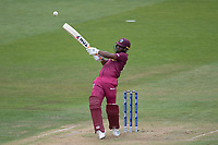 Evin Lewis (West Indies) pulls a short delivery into the on side during West Indies vs New Zealand, ICC World Cup Warm-Up Match Cricket at the Bristol County Ground on 28th May 2019