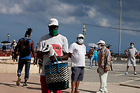 HAVANA, CUBA - April 24: People wearing face masks to prevent Coronavirus contagious wait to buy groceries and cleaning stuff in local market during the spread of the (COVID-19) desease on April 24, 2020. in Havana, Cuba. The Caribbean country has experienced relatively mild Covid-19 diseases. where roughly 11.5 million people living in the island, has so far registered 40 cases with a single death, according to the Cuban Ministry of Public Health. (Photo by Eliana Aponte/VIEWpress)