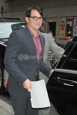 NEW YORK, NY - OCTOBER 4: Matthew Broderick at the Ed Sullivan Theater for an appearance on Late Show with David Letterman in New York City. October 4, 2012. ©RW/MediaPunch Inc.