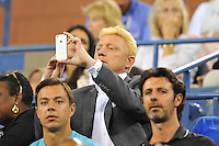Boris Becker<br /> New York Flushing Meadows 03-09-2013 Tennis Torneo US Open Grande Slam.<br /> Photo Antoine Couvercelle / Panoramic / Insidefoto<br /> ITALY ONLY