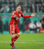 FUSSBALL   DFB POKAL   SAISON 2011/2012   HALBFINALE   21.03.2012 Borussia Moenchengladbach - FC Bayern Muenchen  Franck Ribery (FC Bayern Muenchen)
