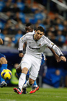16.12.2012 SPAIN -  La Liga 12/13 Matchday 16th  match played between Real Madrid CF vs  RCD Espanyol (2-2) at Santiago Bernabeu stadium. The picture show Cristiano Ronaldo (Portuguese forward of Real Madrid)