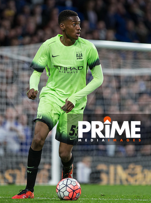 Tosin Adarabioyo of Man City in action during the FA Cup 5th round match between Chelsea and Manchester City at Stamford Bridge, London, England on 21 February 2016. Photo by Andy Rowland.
