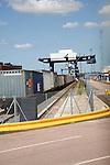 Rail freight Port of Felixstowe, Suffolk, England