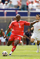 Panama's Felipe Baloy. The United States defeated Panama 3-1 in a shoot out after a scoreless game to win the CONCACAF Gold Cup at Giant's Stadium, East Rutherford, NJ, on July 24, 2005.
