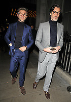 Darren Kennedy and Richard Biedul at the LFW (Men's) a/w2018 GQ Dinner, Berners Tavern, The London Edition Hotel, Berners Street, London, England, UK, on Monday 08 January 2018.<br /> CAP/CAN<br /> &copy;CAN/Capital Pictures