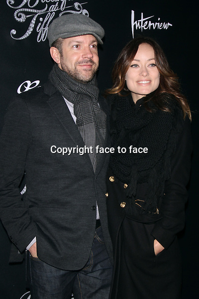 "NEW YORK, NY - MARCH 20: Jason Sudekis and Olivia Wilde at the ""Breakfast At Tiffany's"" Broadway Opening Night at Cort Theatre on March 20, 2013 in New York City...Credit: MediaPunch/face to face..- Germany, Austria, Switzerland, Eastern Europe, Australia, UK, USA, Taiwan, Singapore, China, Malaysia and Thailand rights only -"