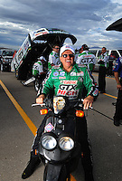 Oct. 31, 2008; Las Vegas, NV, USA: NHRA funny car driver John Force during qualifying for the Las Vegas Nationals at The Strip in Las Vegas. Mandatory Credit: Mark J. Rebilas-