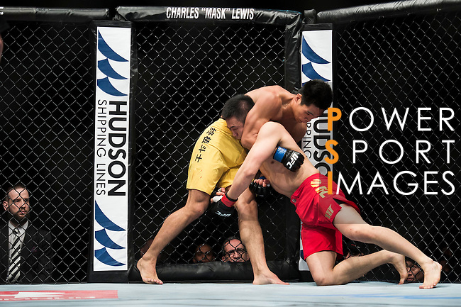 Albert Cheng of Canada and Wang Anying of China fight on their Welterweight Bout 3 Rounds during the UFC Fight Night at the Cotai Arena on 01 March 2014 in Macau, China. Photo by Victor Fraile / Power Sport Images