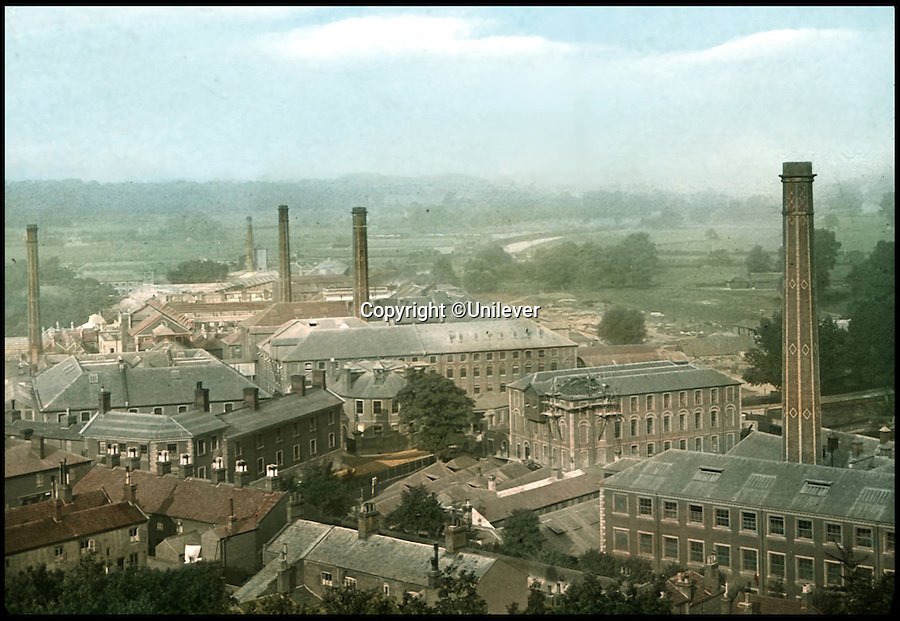 BNPS.co.uk (01202 558833)<br /> Pic: Unilever/BNPS<br /> <br /> Hand tinted glass plate of the Carrow works in 1900.<br /> <br /> A staple of the British kitchen is celebrating its anniversary this year as Colman's Mustard turns 200.<br /> <br /> Archivist's research reveals the 200 year history of Colmans mustard.<br /> <br /> Founded in Norwich in 1814 by Jeremiah Colman, the super hot condiment made from Norfolk mustard seeds soon become a family favourite at dinner tables throughout the Empire, with even Capt Scott taking a case on his ill fated Terra Nova expedition to the south pole.<br /> <br /> So vital was the powdered sauce that it escaped wartime rationing to keep the home fires burning during the dark days of WW2. <br /> <br /> Despite being founded a year before Napoleon met his Waterloo, the world famous brand still produces 3000 tons of the fiery favourite every year exporting to all parts of the globe.
