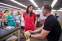 Honolulu, HI - December 3, 2015:  Members of the USWNT visited wounded veterans at the NHCH Makalapa SMART clinic in Pearl Harbor.