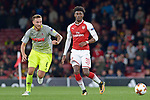14.09.2017, Emirates Stadium, London, GER, Europa League, Arsenal London vs 1. FC Koeln, im Bild<br /> <br /> von links: Marco H&ouml;ger / Hoeger ( Koeln #6 ), Sead Kolasinac ( Arsenal #31 )<br /> <br /> <br /> Foto &copy; nordphoto / Treese